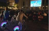 """Puteaux mobilise les citoyens au climat par une séance de """"vélo-cinéma"""""""