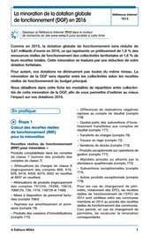 La minoration de la DGF en 2016