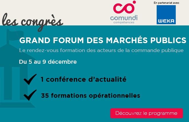 Grand Forum des marchés publics