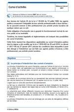 Cumul d'activités pour les fonctionnaires et agents contractuels de droit public