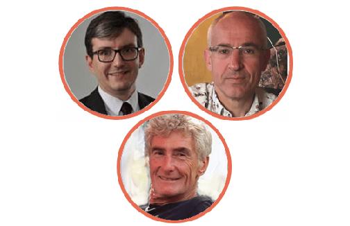 Jean Jacques Roux, Joël Louisy et Hugues Perinel