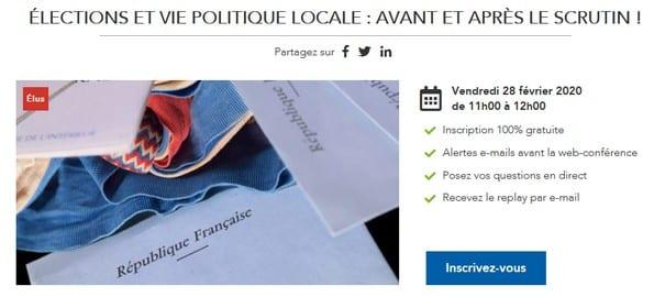 Élections et vie politique locale : avant et après le scrutin !