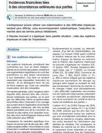 Pandémie de Covid-19 : incidences financières liées à des circonstances extérieures aux parties