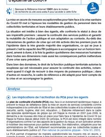 La gestion des RH dans les collectivités locales et leurs établissements publics pour faire face à la pandémie de Covid-19