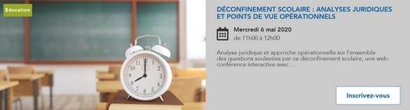 Déconfinement scolaire : analyses juridiques et points de vue opérationnels