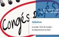 Le projet « Don de congés » du département du Gard