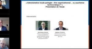 """""""Administration locale partagée : rêve organisationnel… ou cauchemar technocratique ?"""" Présentation de l'étude"""
