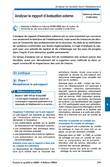 Analyser le rapport d'évaluation externe