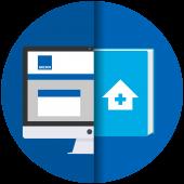 Logo produit Interventions sociales et médico-sociales à domicile