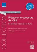 Préparer le concours de CPE - Recueil de notes de lecture